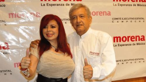 Layda Sansores con AMLO