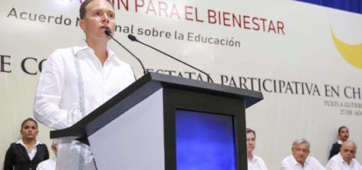 Manuel Velasco pide licencia como senador para terminar su administración en Chiapas